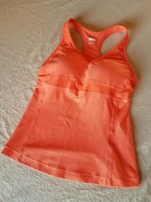 a13a918d03ee3 Nike Dri-Fit Womens Workout   Running Tank Top Built In Bra Orange XS (