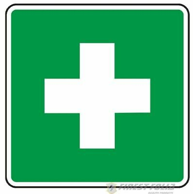 2x First Aid Sticker 10x10cm with Schutzlaminat Accident Protection First-Aid