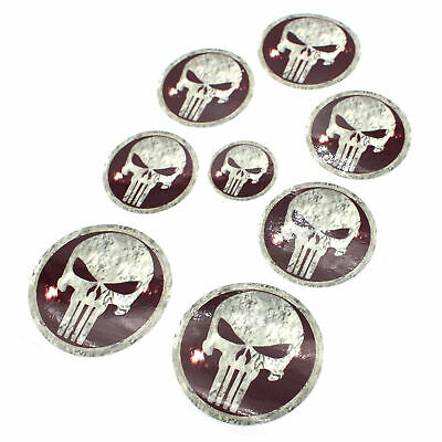Skull #3 Logo Emblem Foils Set F.BMW E38 E66 E31 E83 E53 E39 E36 M PACKAGE