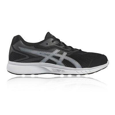 Asics Stormer Mens Grey Black Cushioned Running Sports Shoes Trainers Pumps