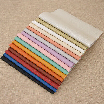 A4 Size Faux Leather Fabric Pearlized PVC Litchi Grain Leather DIY Sewing Fabri