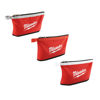 Milwaukee Zipper Pouch (Assorted Colors) 3-Pack 48-22-8193 New