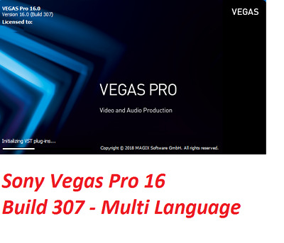 NEW✔️ Sony Vegas Pro 16 ✔️ Unlimited PC ✔️ Digital DOWNLOAD ✔️ Lifetime License