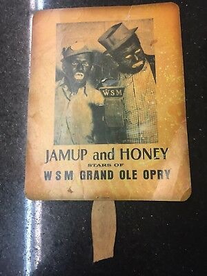 Vintage WSM Grand Ole Opry Jamup and Honey Hand Fan