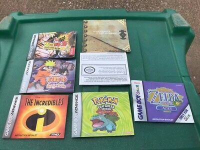 Small Lot of Instruction Manuals for Nintendo Game Boy Color & Advance