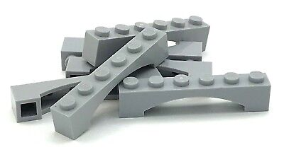 Lego 1x12x3 Arch Brick Raised Cross Supports Light Bluish Gray Lot of 4 NEW