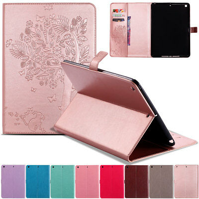 For iPad 9.7 2018 6th Gen Smart Leather Flip Stand Case Cover w/ Card Holder