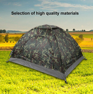 2 Person Double Layer Instant Pop Up Large Camping Tent Outdoor Shelter