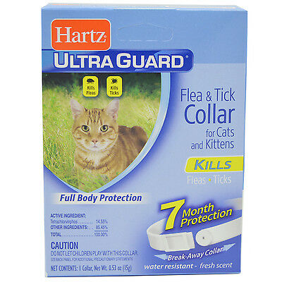 Hartz Ultraguard Flea and Tick Collar for Cats & Kittens Neck White 7 Months