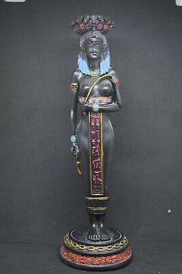 Queen Goddess Isis Ancient Egypt Egyptian Woman Decor Artwork God Art Statue