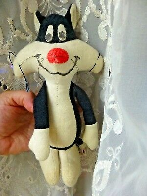 "Rare Vintage 1976 Sylvester The Cat Looney Tunes 9"" Stuffed Animal Warner Bros."