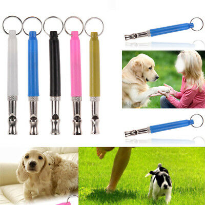 1PC Dog Puppy Pet Training Sound Whistle Silent Ultrasonic Adjustable Keychain