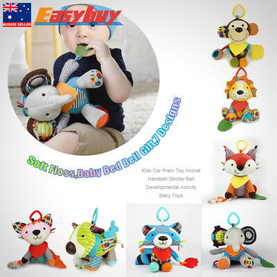 1x Kids Car Pram Toy Animal Handbell Stroller Bell Developmental Activity Toy AU