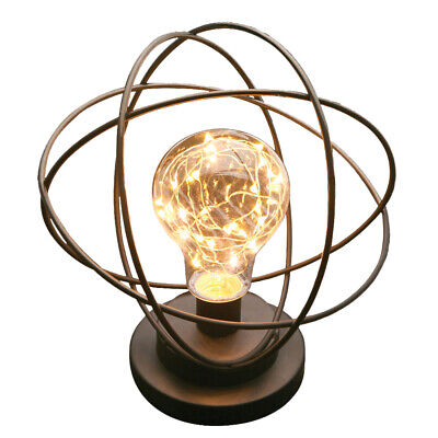 Table Lamp - Atomic Age LED Metal Accent Light - Neils Bohr Atomic Model