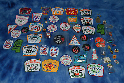 Vintage Lot Of 39 Bowling Patches Sew On Iron On Never Used + Collector Pins