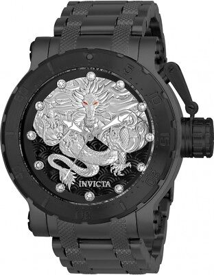 Invicta Coalition Forces Automatic Crystal Black Men's Watch 26512