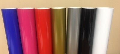 Oracle 651 Glossy Permanent Vinyl Rolls 12 x 5 ft (10 Rolls) CHOOSE YOUR COLORS