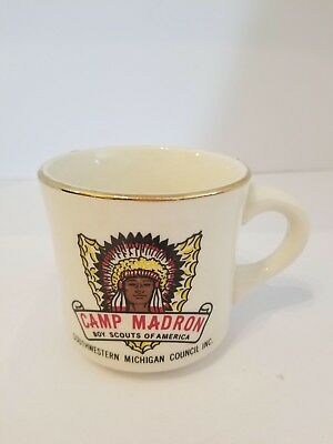 Vintage Boy Scout mug Camp Madron Southwestern Michigan Council BSA