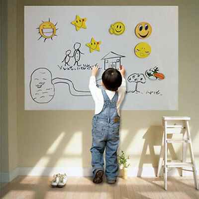 50x100cm Office School Home Whiteboard Dry Wipe Drawing Board Contact Paper