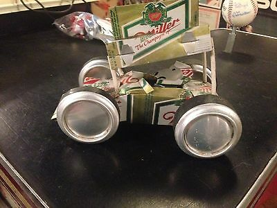 Beer Can Aluminum Handcrafted Sprint Car--MILLER HIGH LIFE