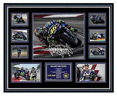 Valentino Rossi 2018 Movistar Yamaha Signed Photo Motogp Framed Memorabilia