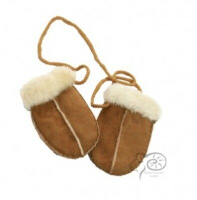 Sheepskin Baby Mittens Gloves - Unisex Girl Boy