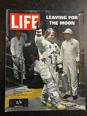 LIFE Magazine - 4th Aug 1969 -  Leaving For The Moon, Nixon (Atlantic UK Ed)