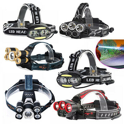 120000LM XPE USB LED Headlamp Headlight Head Torch Lamp Outdoor Camping Cycling