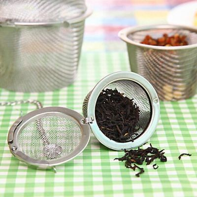 Tea Ball Stainless Steel Mesh Infuser Filter Kitchen Cook Spice Herbal Strainer