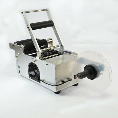 MT-50 Semi-Automatic Round Bottle Labeling Machine Printer Scrolling With Date