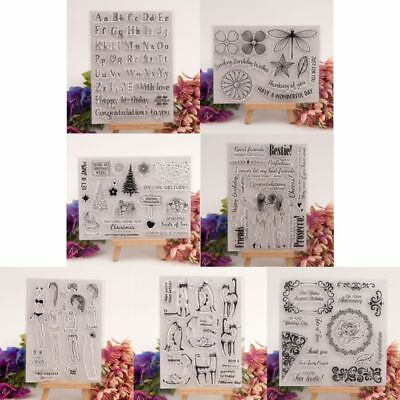 Silicone Clear Stamp Seal DIY Scrapbook Embossing Album Decor Craft Art