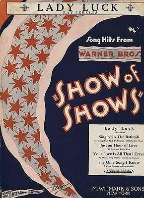 Lady Luck (from Show of Shows) - USA Sheet Music, 1929 / Ray Perkins