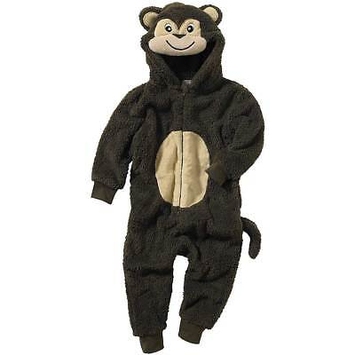 World Book Day Monkey 1Onesie Onezi Boy Child Fleece Hooded Novelty Jumpsuit