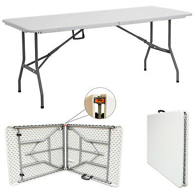 1.8 Meter OUTDOOR HEAVY DUTY FOLDING CATERING CAMPING TABLE TRESTLE BBQ PICNIC