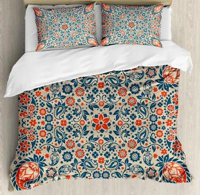 Retro Modern Duvet Cover Set Twin Queen King Sizes with Pillow Shams