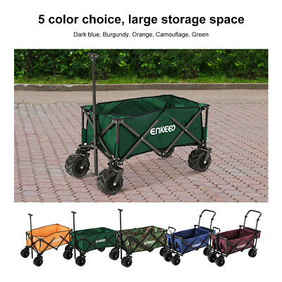 Foldable Wagon Collapsible Trolley Sports Outdoor Cart Camping Beach Concert AU