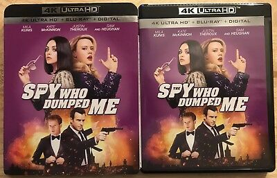 The Spy Who Dumped Me 4K Ultra Hd + Blu Ray 2 Disc Set With Slipcover Free Shipp