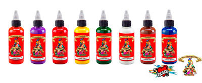 Philadelphia Eddie Mom's Tattoo Traditional Colors 8 Inks Set # 1 Bottle 1/2 oz