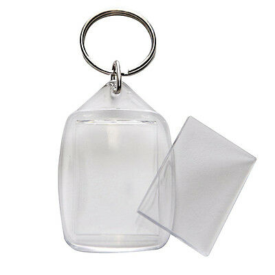 Clear Blank Acrylic Photo Keyring Insert Personalise – Plastic 35Mm X 25Mm