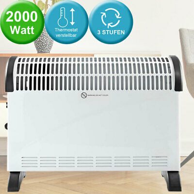 Convector heating device 3 levels state heating electronic thermostat adjustable