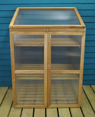 Wooden Framed Polycarbonate Garden Growhouse Mini Greenhouse