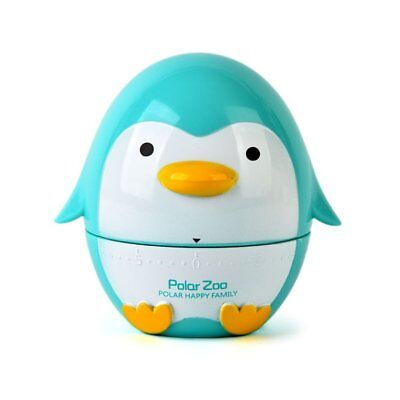Home Mini Cute Penguin Shaped Kitchen Timer 60 Minutes Cooking Mechanical Tool D