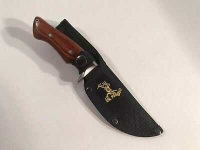 "Elk Ridge ER545BW Brown Wood full tang fixed blade knife 8 3/8"" overall NEW!"