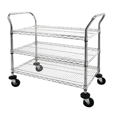 Vogue Serving Cart 3 Shelves Clearing Trolley Kitchen
