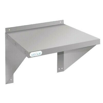 Vogue Stainless Steel Wall Shelf for Oven / Microwave 56x56cm Kitchen