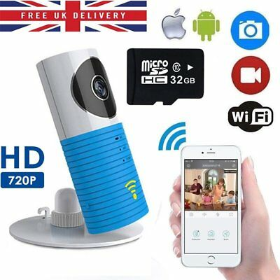 Clever Dog Wireless Smart Camera WiFi Monitor Security Smart phone Blue-UK STOMK