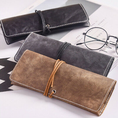 Unisex PU Leather Eye Glasses Sunglasses Storage Protector Holder Case Cover Z