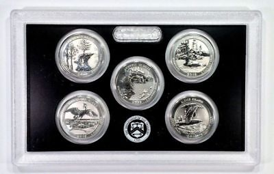 2018 Silver REVERSE PROOF State Quarter Set 90% Silver-No Box or COA's-5 coins
