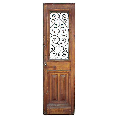 """Reclaimed 28"""" French Colonial Door with Iron Insert, NED839"""