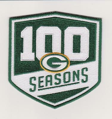 GREEN BAY PACKERS 100th SEASONS JERSEY PATCH SET 4""
